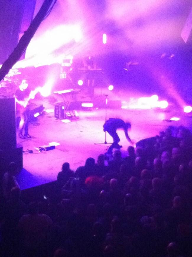 Gary Numan takes the stage at the Mayan on March 6. | Photo by Jake Tully/Contributor