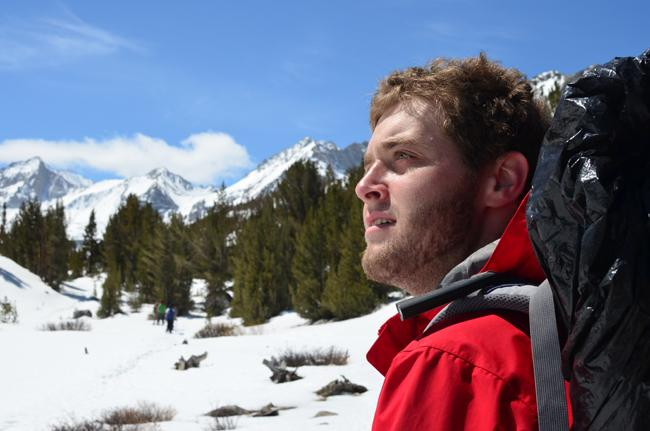 OA guide Jared Tkocz analyzes the trails and the melting snow for safer travels.