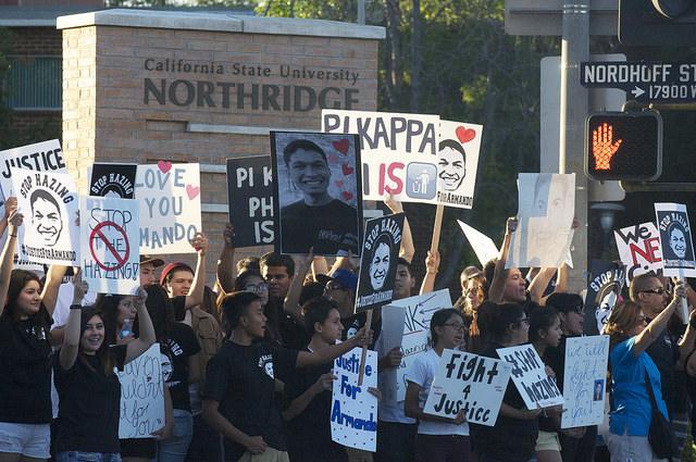 Anti-hazing rally, vigil held for CSUN fraternity pledge