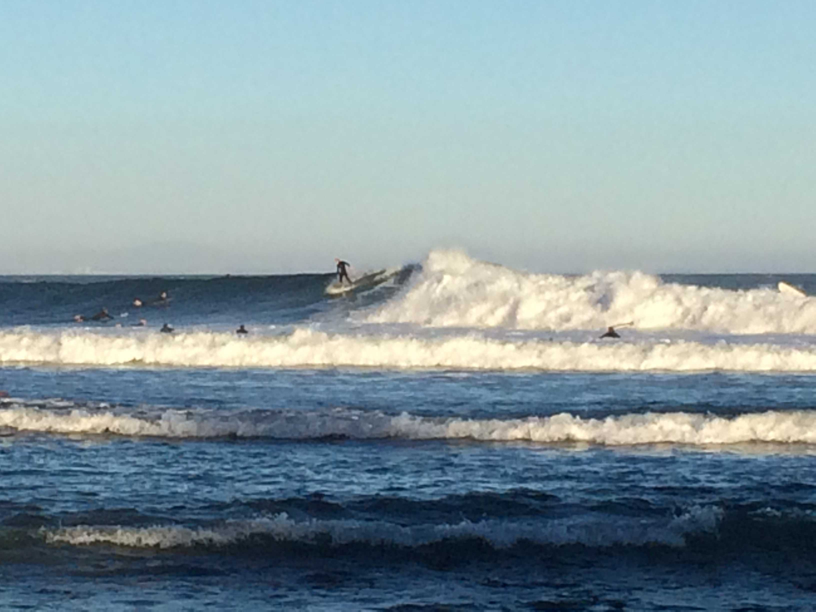 Members of the surf community flocked to Malibu for the epic surf.