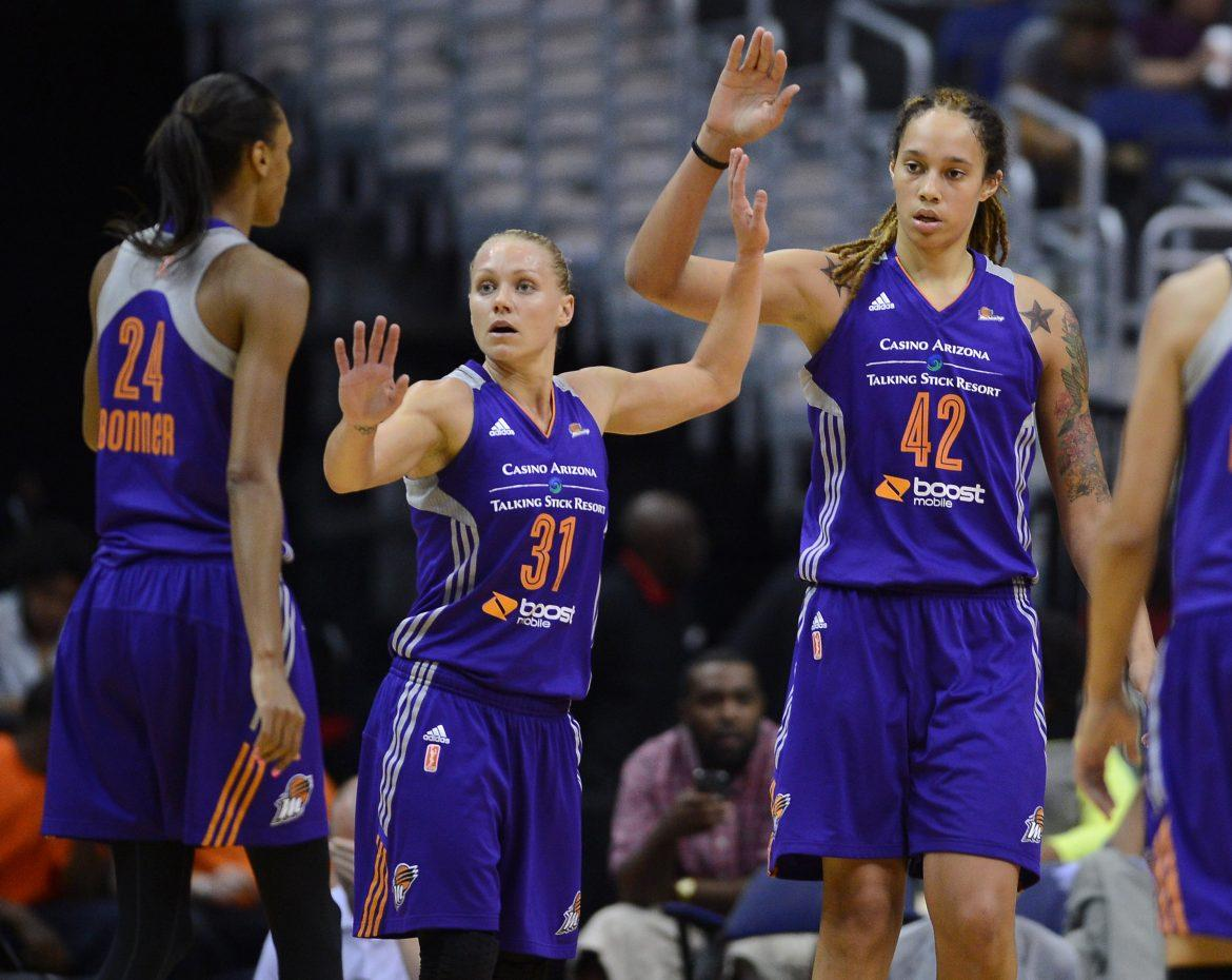 Brittney Griner and the high octane Phoenix Mercury among favorites for 2014 WNBA Championship. Photo by MCT.