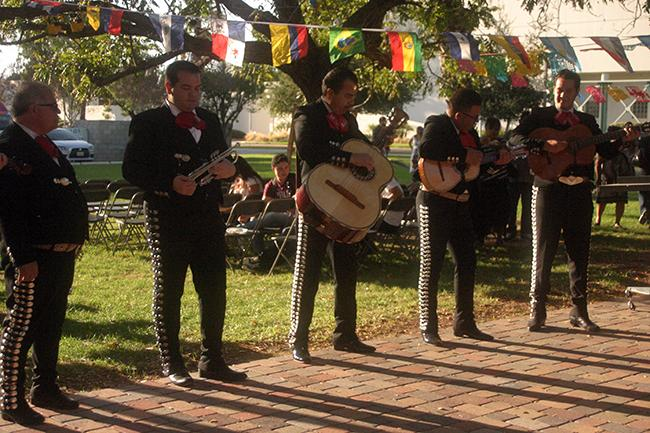 Members of the Mariachi Aztlan de San Fernando serenade the crowd at the End-Dependence Day celebration held at the Chicano House on Sept. 27. Photo Credit: Kate Krantz/Contributor