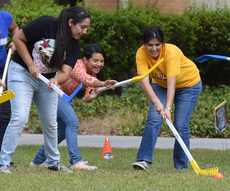 A group of people played Waw'kish, a California Native American game, during the California Indian Day event held on Sept. 26 and 27. They used hockey sticks, a ball, and cones to mimic the original way of playing the game. Photo Credit: Kristine Quilang-Castro/ Contributor