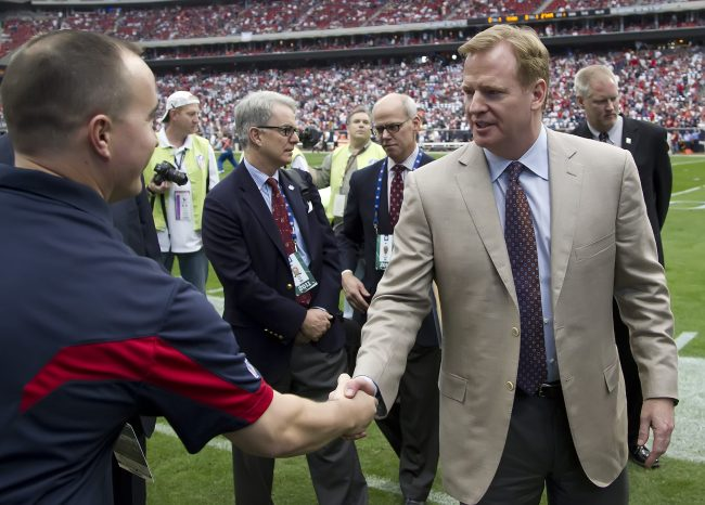 NFL Commissioner Roger Goodell has received much criticism for his handling of NFL players' personal conduct, but he should not resign. Photo courtesy of MCT.