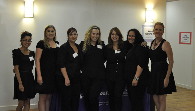 Staff and volunteers at Strength United who help victims of abuse.   Manny Araujo/ Sundial Staff