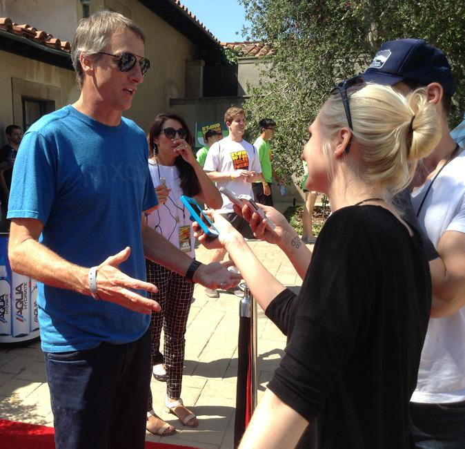 Pro+skater+Tony+Hawk+answers+questions+at+his+11th+Annual+Stand+Up+for+Skateparks+Benefit+on+Sept.+21+from+a+private+home+in+Beverly+Hills.+Photo+Credit%3A+Silvia+Gutierrez%2FThe+Sundial