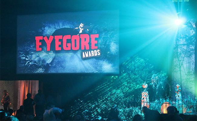 The decor of tombstones, gargoyles, and metal fences fittingly turned the venue into a graveyard for the night at the Eyegore Awards. Photo Credit: Demi Corso/The Sundial