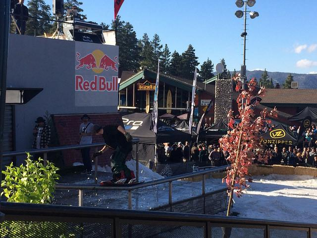 Rails, gaps and roof jumps were set up as pros and ams competed to win 10,000 dollars. Hayley Hill/ The Sundial