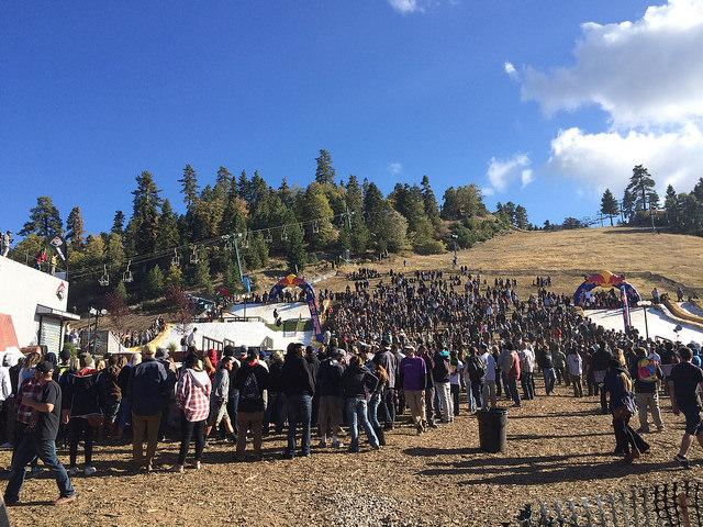 People gathered to watch the competition and get their discounted season passes! Hayley Hill/The Sundial