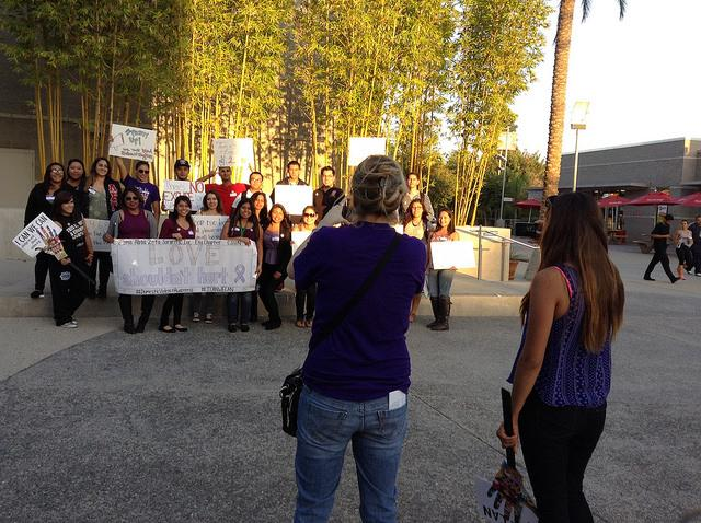 Sigma Alpha Zeta marches to promote Domestic Violence Awareness month