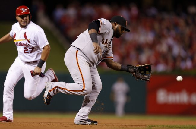 Pablo Sandoval is among notable players in the even matchup of infielders. Photo courtesy of Tribune News Service.
