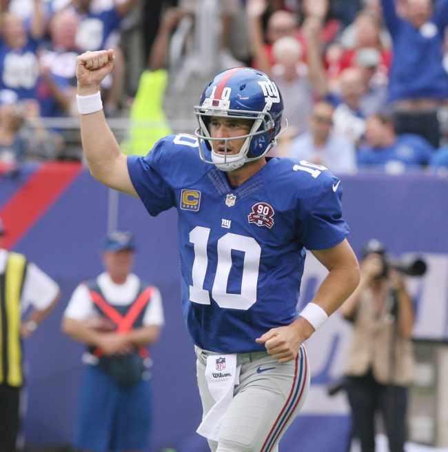 New York Giants quarterback Eli Manning is one of the few suggested Fantasy picks to do well this for Fantasy owners week. Photo courtesy of Tribune News Services.