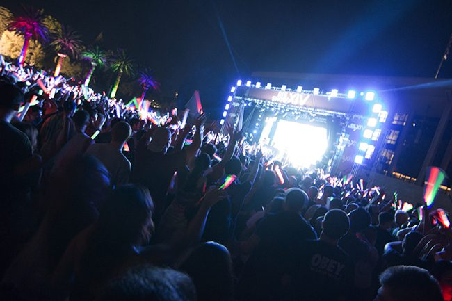 CSUN danced all night to the music of Laidback Luke and DVBBS at Big Show XIV on Oct. 4, 2014 on the Oviatt Lawn. Photo credit: Trevor Stamp/ The Sundial