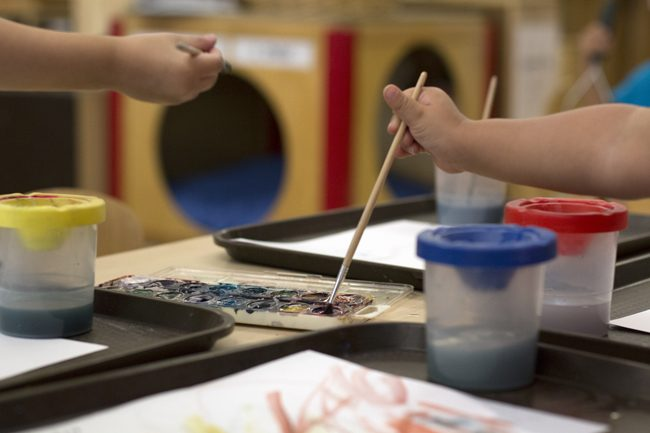 Children's Center lends a hand to student-parents