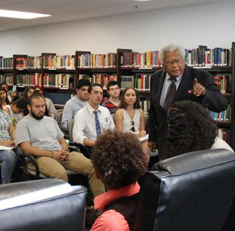 Reverend James Lawson lectures during the CDSC