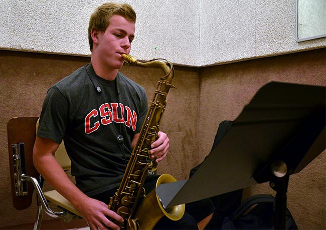 Jordan+Leicht%2C+a+freshman+jazz+major+practices+on+his+own+for+about+two+and+a+half+hours+a+day%2C+not+including+rehearsals.+He+has+his+own+combo+band+and+participates+in+a+big+jazz+band+as+well.+Photo+Credit%3A+Vince+Nguyen%2F+The+Sundial
