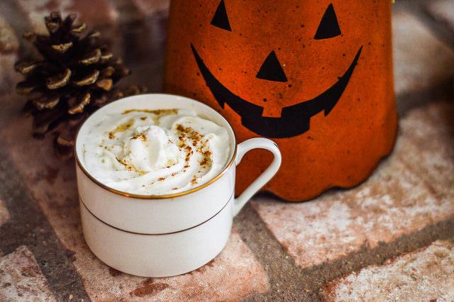 pumpkin spiked latte
