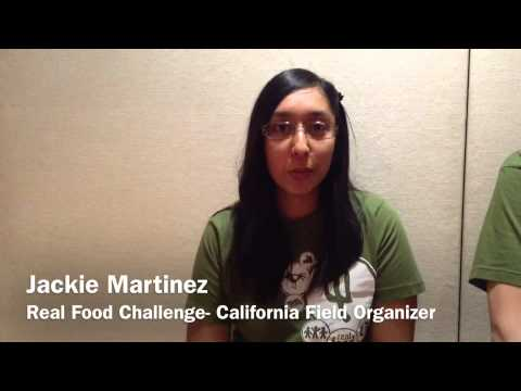 Students take part in the Real Food Challenge Event