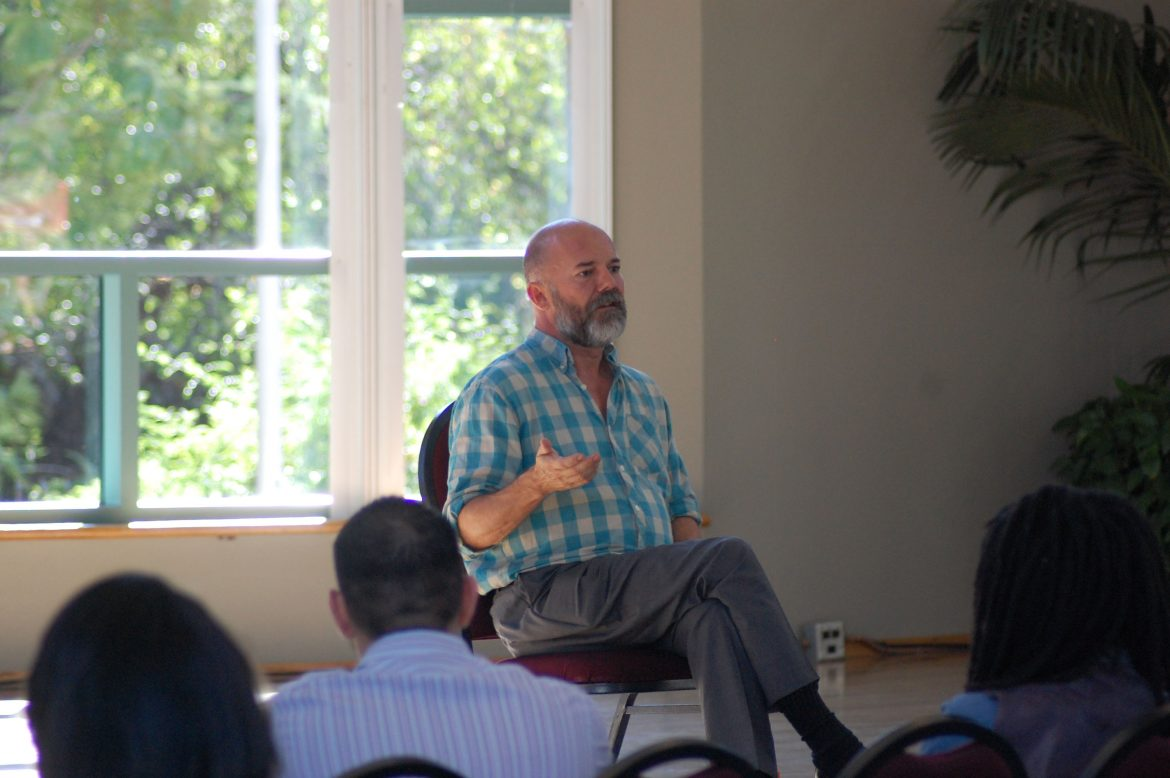 Noted+journalist%2C+author+and+LGBTQ+activist+Andrew+Sullivan+answers+students+questions+during+a+Q%26A+at+the+USU+Grand+Salon.+Photo+Credit%2FManny+D.+Araujo.