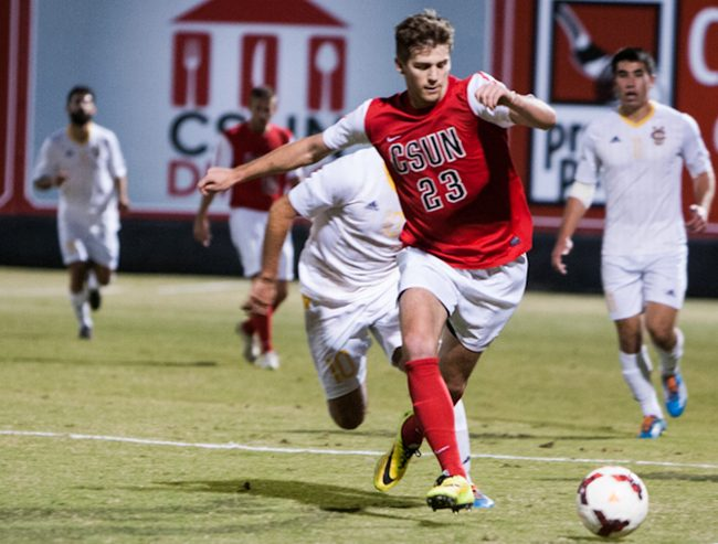 Men's Soccer: Matadors stay in playoff race with 2-0 win over No. 14 UC Irvine