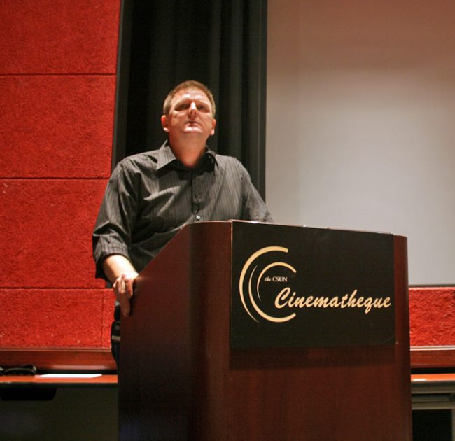 Tim Halloran holds film screenings on Thursday nights inside the Armer Theater for CSUN's Cinematheque. Photo Credit: Rasta Ghafouri/ The Sundial