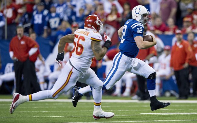 Andrew Luck once again is a Fantasy Stud this week. Sundial Sports team. Photo courtesy of Tribune News Service.