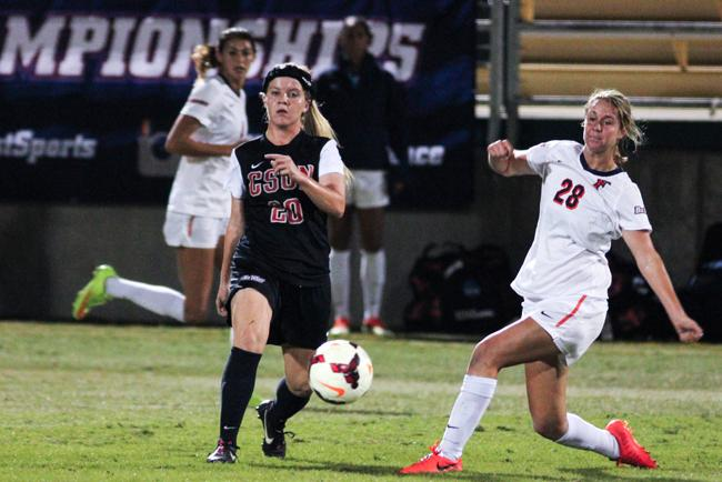 The Matador women's soccer team will not advance in the Big West Tournament. The match against Fullerton resulted in a 1-0 loss. Photo Credit: Kelly Rosales/Contributor