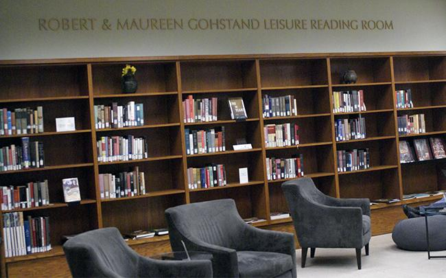 The new reading room and lounge is dedicated to Robert and Maureen Gohstand. This new spot is among many locations for students to relax or study.  Photo Credit: Macie Bennet/The Sundial