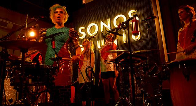 tUnE-yArDs performed a short set at the Sonos Studio in front of a small audience, promoting their new album,