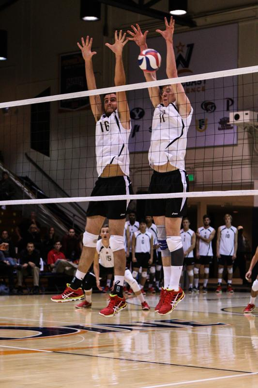 Brian O'Gorman and Sam Holt against Pepperdine Waves. Photo Credit: Kelly Rosales/Contributor