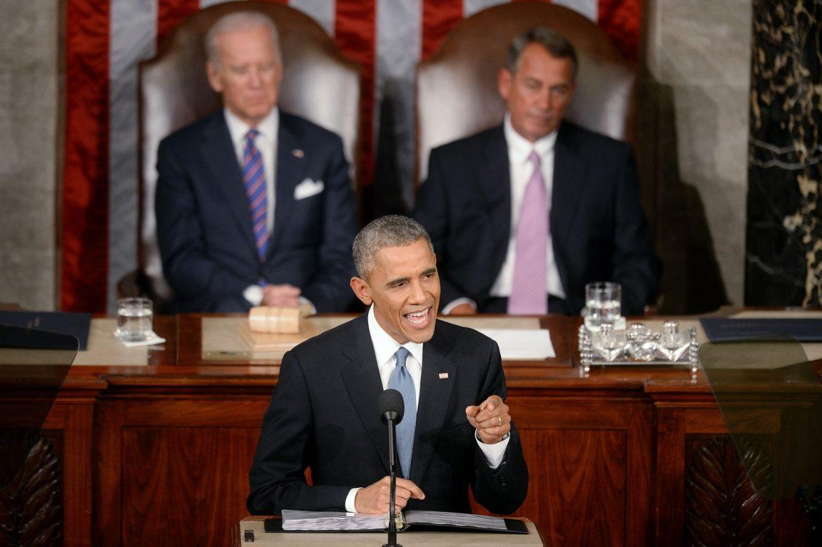 President Barack Obama delivers the State of The Union address on Tuesday, Jan. 20, 2015, in the House Chamber of the U.S. Capitol in Washington, D.C. (Olivier Douliery/Abaca Press/TNS)