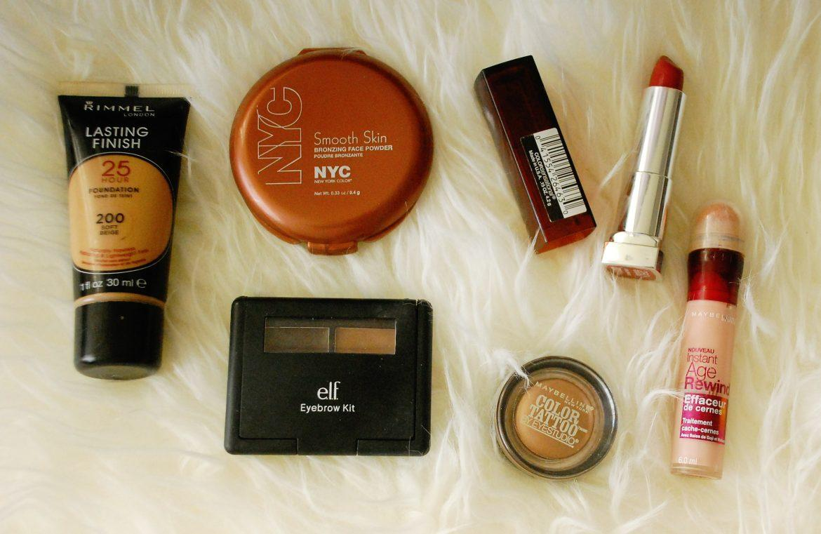 Drugstore makeup that is both affordable and comparable to high  end brands for the makeup obsessed college student. Photo  credit: Kristine Malicse / Culture Clash Editor