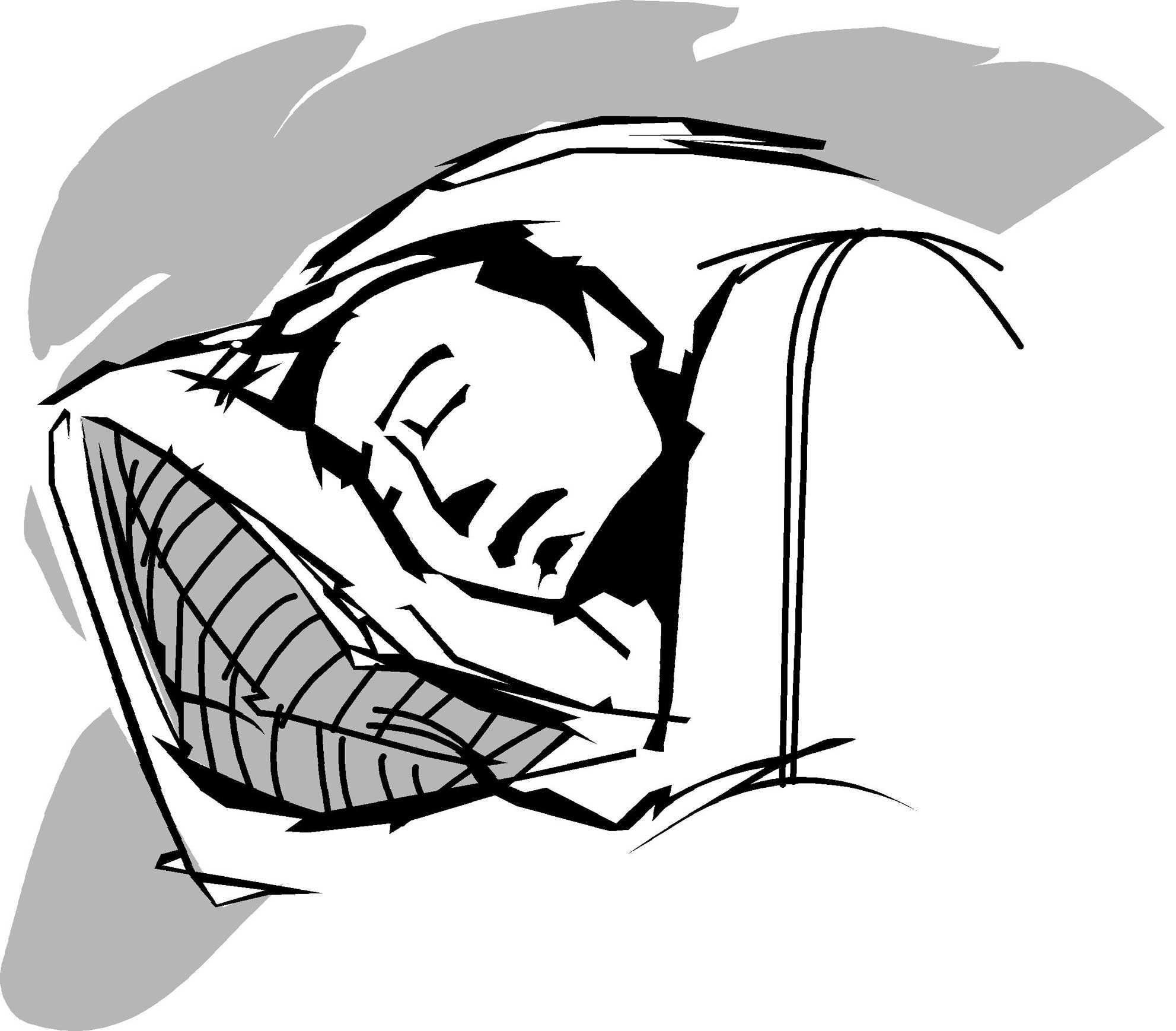 Melissa Slimick illustration of man sleeping. (Orlando Sentinel/TNS)