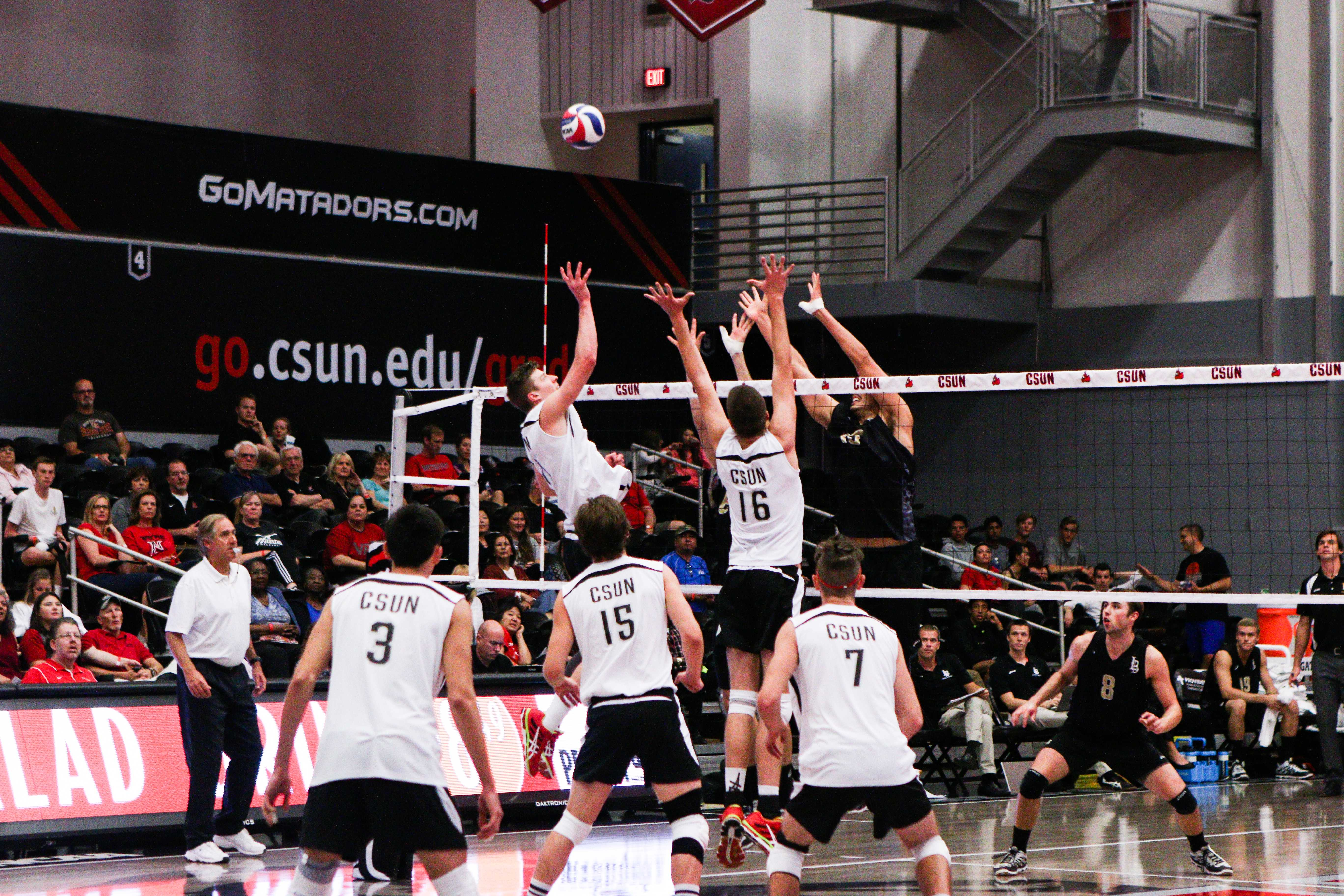 Men's Volleyball: Long Beach State stretches CSUN losing streak