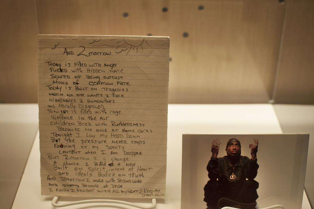 The new exhibit at the Grammy Museum features a handwritten poem