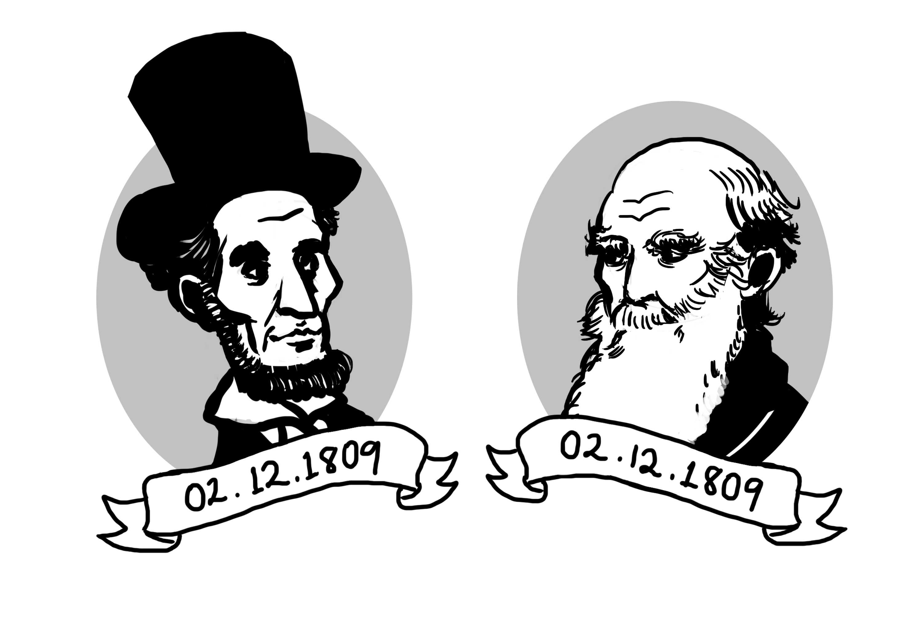 Lincoln and Darwin share more than just their love for mankind