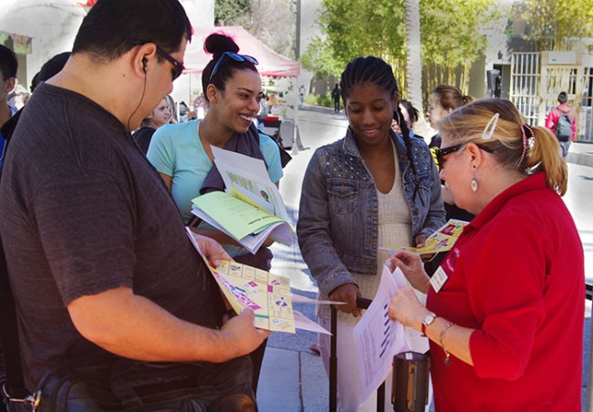 "The University Student Union (USU) host  ""CSUNopoly Financial Literacy Edition,"" at Plaza del Sol to help educate students about personal finances, scholarships, and many things while particpating in fun activites on Feb. 10, 2015. (Matthew Delgado/Staff Photographer)"