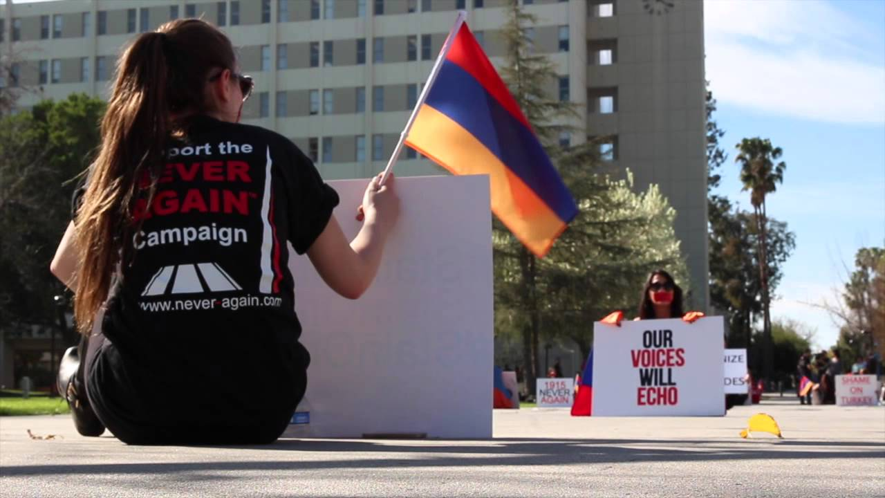 Watch: Silent Protest for Armenian Genocide
