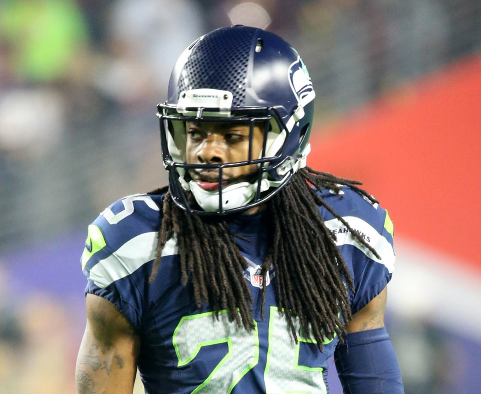 Cornerback Richard Sherman of The Seattle Seahawks recently expressed his opinions on National Signing Day. Is he correct? Photo courtesy of Tribune News Services