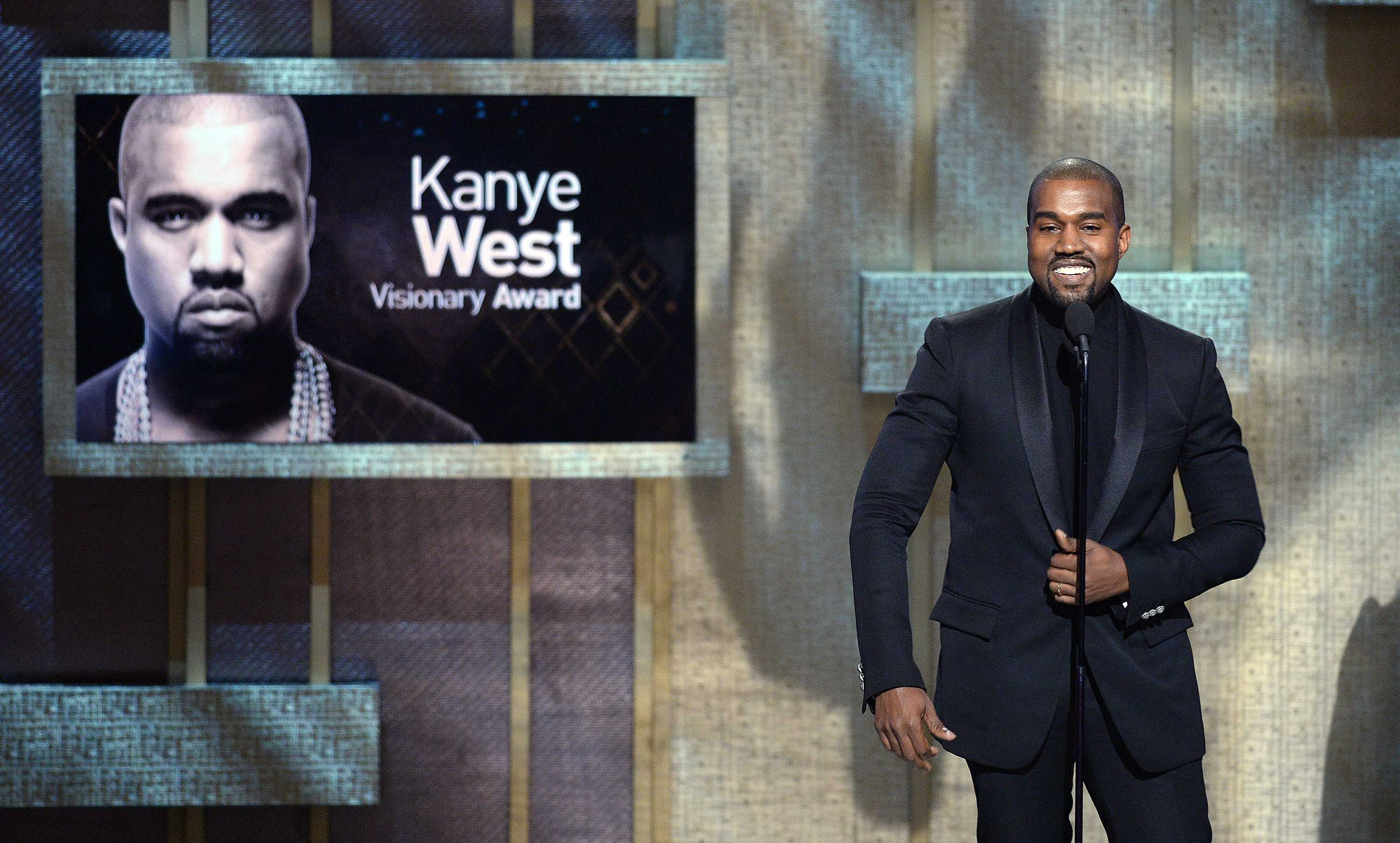 Kanye+West+onstage+at+BET+Honors+2015+at+the+Warner+Theatre+in+Washington%2C+D.C.%2C+on+Saturday%2C+Jan.+24%2C+2015.+%28Olivier+Douliery%2FAbaca+Press%2FTNS%29