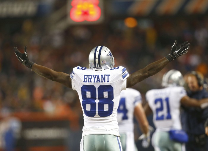 Dez Bryant, who was recently franchised by the Dallas Cowboys, may get much more out of his season with the new cap space for each NFL team. Photo courtesy of TNS.