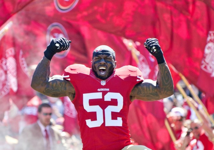 San Francisco 49ers inside linebacker Patrick Willis (52) headlines a growing faction of National Football League players who have chosen to retire in their prime. (Hector Amezcua/Sacramento Bee/MCT/2013)