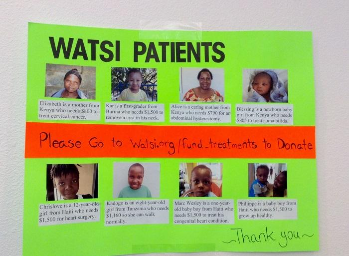 CSUN students helped raise awareness/ funds for Watsi - a non profit organization that enables anyone to directly fund medical care for people in need from third-world countries. Photo credit: Esmeralda Ramirez