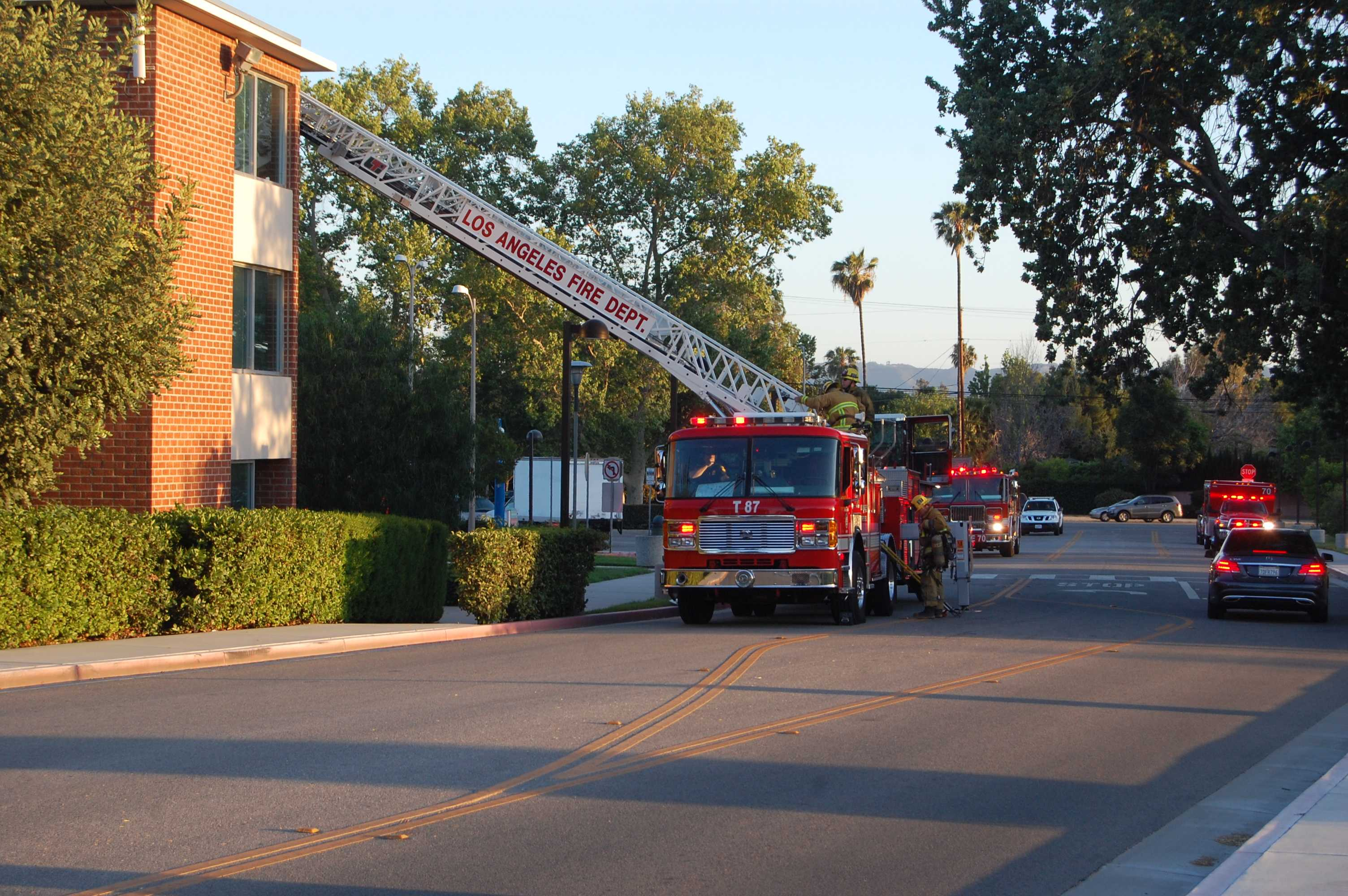 Fire in Monterey Hall caused by an overheated motor