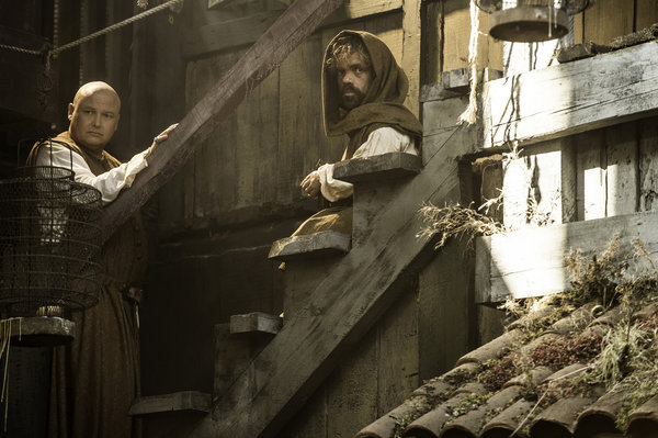 From left, Conleth Hill as Lord Varys and Peter Dinklage as Tyrion Lannister in