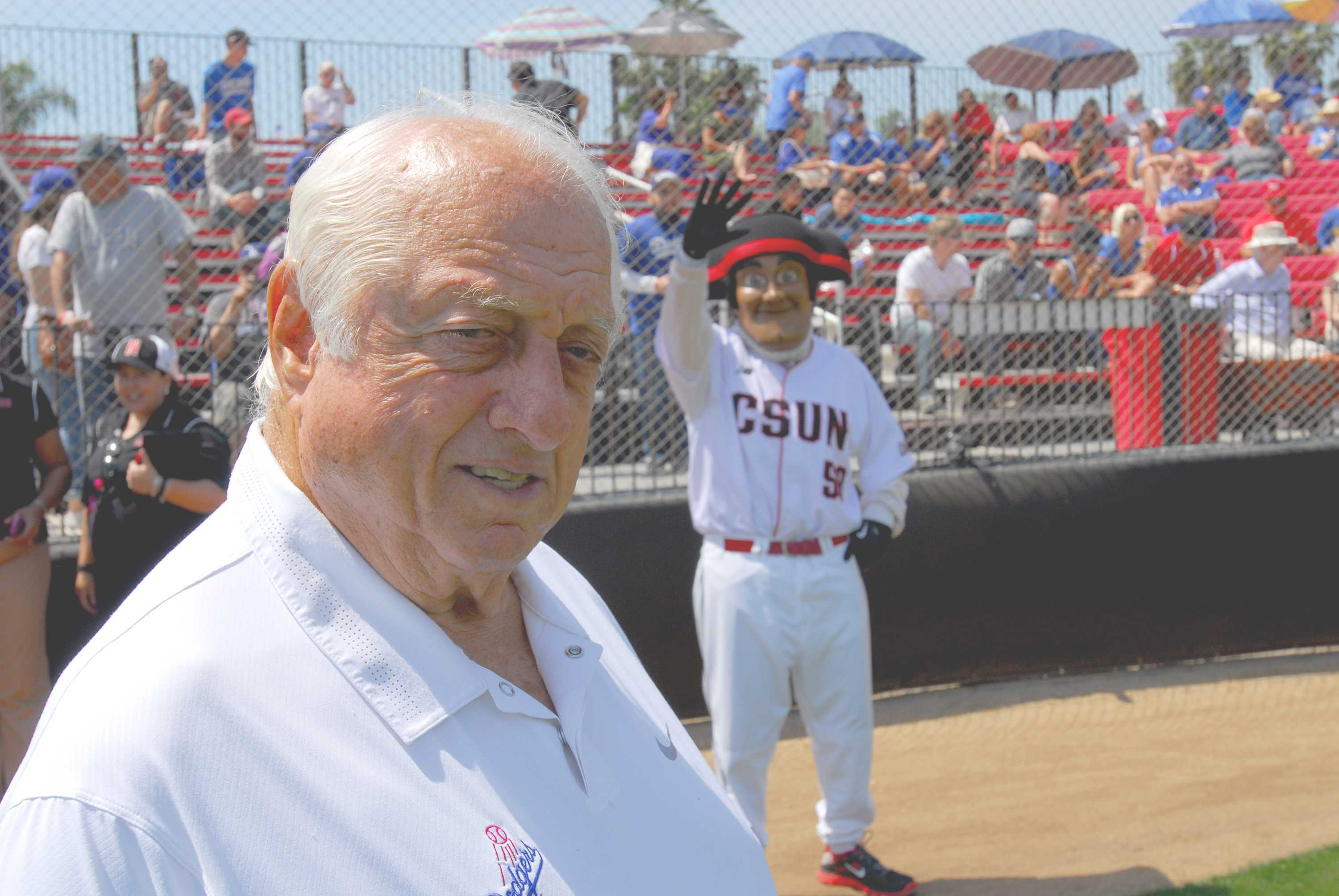 Los+Angeles+Dodgers+legend+Tommy+Lasorda+visited+CSUN+during+the+Matadors%27+baseball+game+against+UC+Santa+Barbara+on+Saturday%2C+April+11.+Photo+credit%3A+Michael+Arvizu