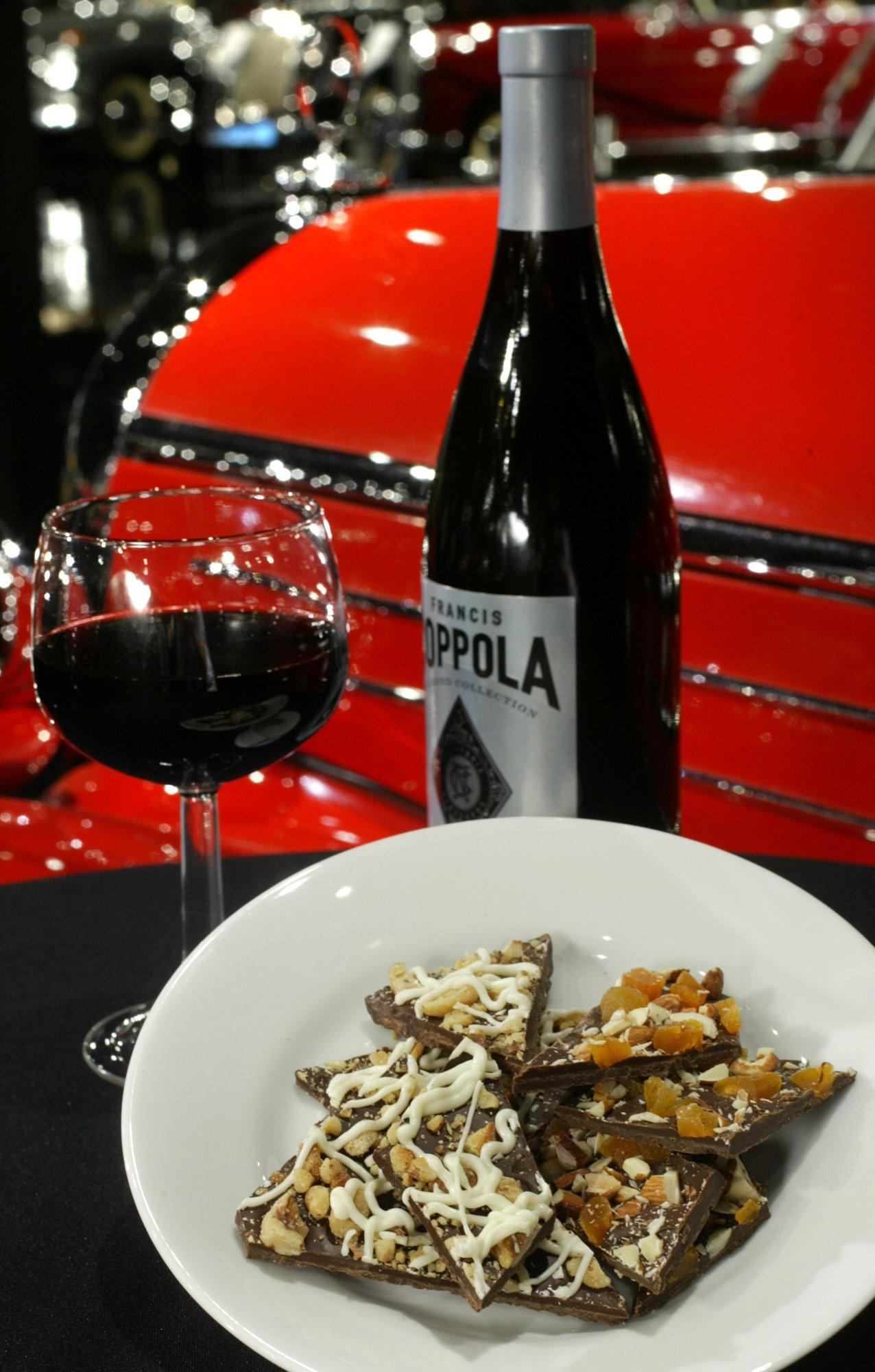 Double dark chocolate bark with nuts and red wine make for great brain food. (Karen Elshout/St. Louis Post-Dispatch/KRT)