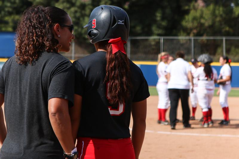 Second+baseman+Savannah+Horvath+and+the+rest+of+the+Matadors+followed+head+coach+Tairia+Flowers%27+aggressive+gameplan+during+the+2015+NCAA+softball+tournament+at+UCLA%E2%80%99s+Easton+Stadium+in+Los+Angeles%2C+Calif.%2C+on+Sat.+May+16%2C+2015.+%28Kelly+Rosales%2F+The+Sundial%29
