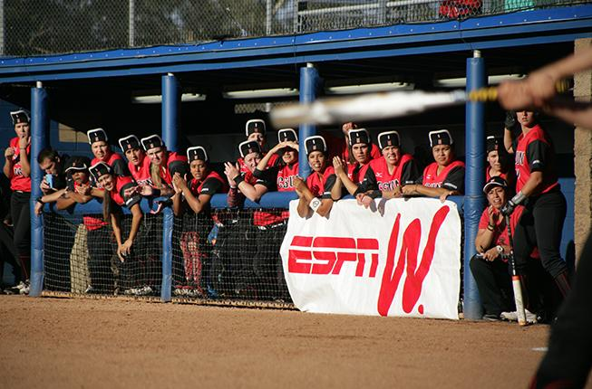 Despite and early home run by Katie Hooper, the CSUN softball team was only able to come up with one run as they fell via mercy rule to UCLA in the first round of the 2015 NCAA softball tournament at Easton Stadium in Los Angeles California on Friday, May 15, 2015. (Raul Martinez/ The Sundial).