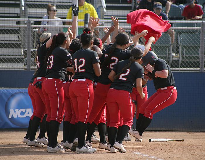 CSUN had a ton to celebrate about, where their strong pitching and hitting resulted in a shortened game against the University of Idaho Bengals. (File Photo / The Sundial)